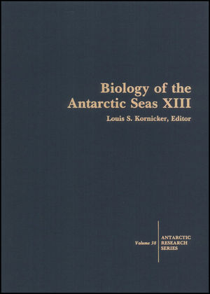 Biology of the Antarctic Seas XIII