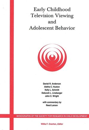 Early Childhood Television Viewing and Adolescent Behavior: Monographs of the Society for Research in Child Development, Volume 66, No. 1 (0631229221) cover image