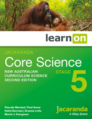 Jacaranda Core Science Stage 5 2e NSW Australian curriculum learnON (Codes Emailed)