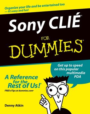 Sony CLIÉ For Dummies (0764576321) cover image