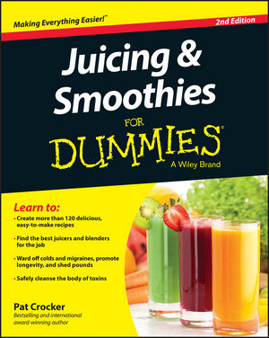 Juicing and Smoothies For Dummies, 2nd Edition (1119057221) cover image