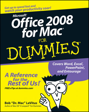 Office 2008 for Mac For Dummies (0470270322) cover image