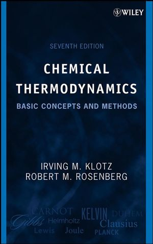 Chemical Thermodynamics: Basic Concepts and Methods, 7th Edition (0470285222) cover image