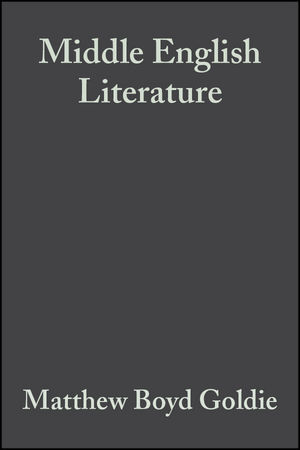Middle English Literature: A Historical Sourcebook (0470752122) cover image