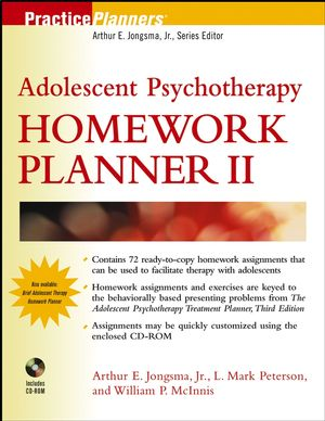 Adolescent Psychotherapy Homework Planner II (0471690422) cover image