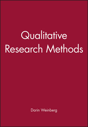 Qualitative Research Methods (0631217622) cover image