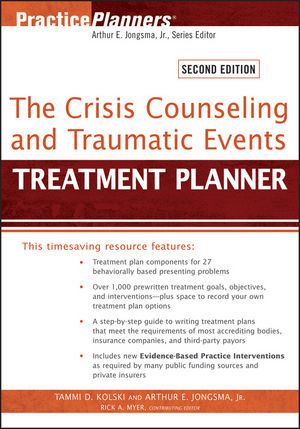 The Crisis Counseling and Traumatic Events Treatment Planner, 2nd Edition (1118236122) cover image