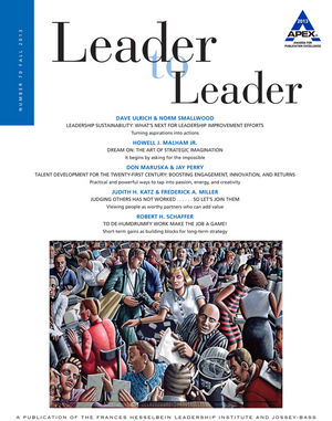 Leader to Leader (LTL), Volume 70, Fall 2013