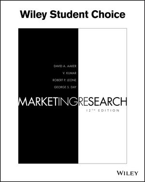 Marketing Research, 12th Edition