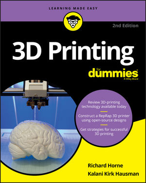 3D Printing For Dummies, 2nd Edition (1119386322) cover image