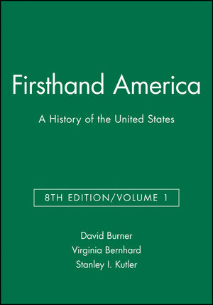 Firsthand America: A History of the United States, Volume 1, 8th Edition (1933385022) cover image