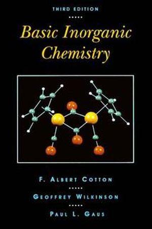 Basic Inorganic Chemistry, 3rd Edition (0471505323) cover image