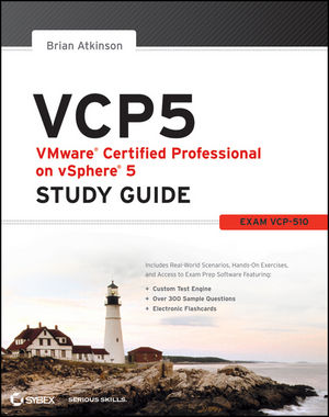 VCP5 VMware Certified Professional on vSphere 5 Study Guide: Exam VCP-510 (1118181123) cover image