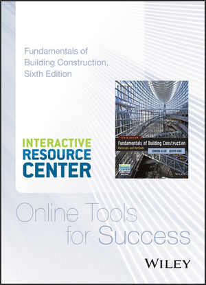 Interactive Resource Center Access Card for Fundamentals of Building Construction: Materials and Methods, 6e (1118820223) cover image