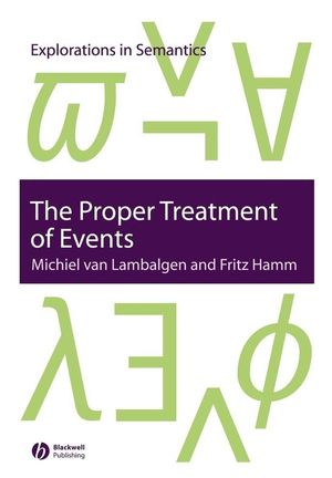 The Proper Treatment of Events (1405112123) cover image