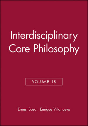 Interdisciplinary Core Philosophy, Volume 18