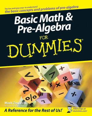 Basic Math and Pre-Algebra For Dummies (0470260424) cover image