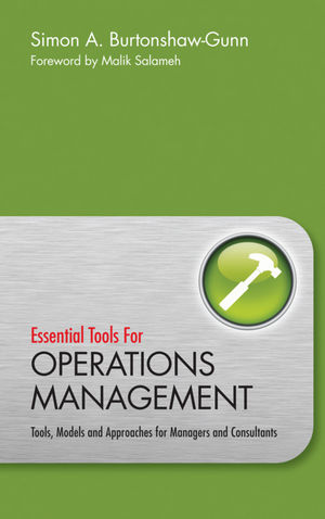 Essential Tools for Operations Management: Tools, Models and Approaches for Managers and Consultants (0470745924) cover image