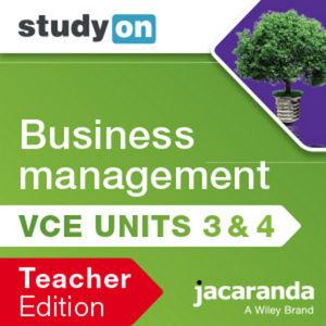 StudyOn VCE Business Management Units 3&4 3e Teacher Edition (Online Purchase)