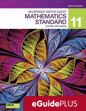 Jacaranda Maths Quest 11 Mathematics Standard 5e eGuidePLUS (Online Purchase)