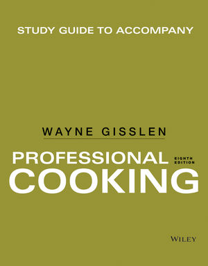 Study Guide to accompany Professional Cooking, 8th Edition (1118929624) cover image