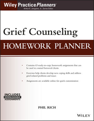 Grief Counseling Homework Planner, (with Download)