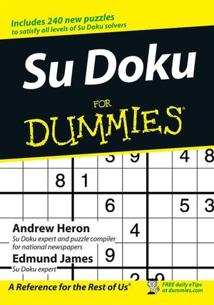 Su Doku for Dummies (0470018925) cover image