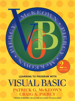 Learning to Program with Visual Basic, 2nd Edition (0471418625) cover image