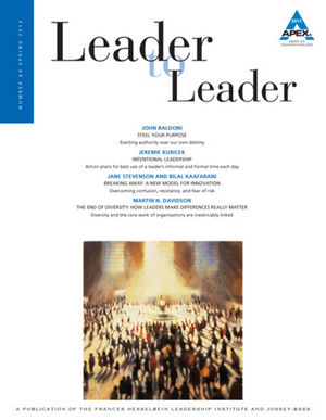 Leader to Leader (LTL), Volume 64, Spring 2012 (1118337425) cover image