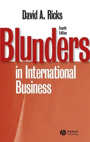 Blunders in International Business, 4th Edition (1405134925) cover image