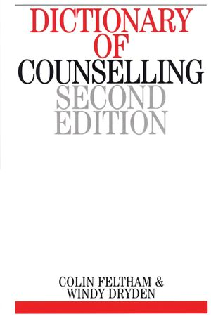 Dictionary of Counselling, 2nd Edition (1861563825) cover image