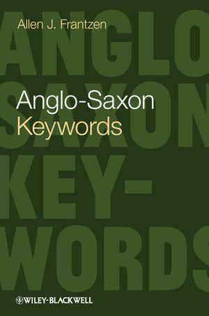 Anglo-Saxon Keywords (0470657626) cover image