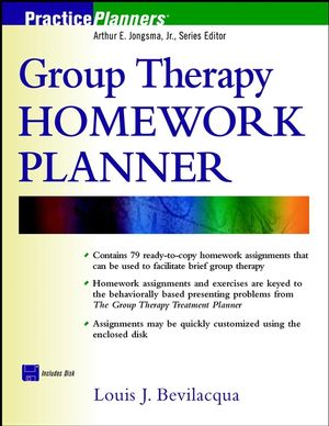 Group Therapy Homework Planner (0471418226) cover image