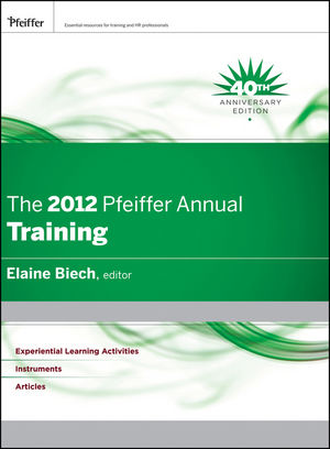 The 2012 Pfeiffer Annual: Training (1118124626) cover image