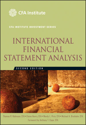 International Financial Statement Analysis, 2nd Edition (1118235126) cover image