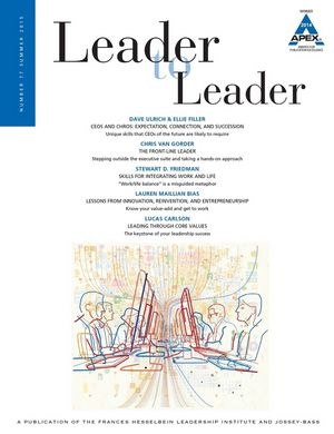 Leader to Leader (LTL), Volume 77, Summer 2015