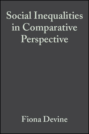 Social Inequalities in Comparative Perspective (1405143126) cover image
