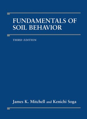 Fundamentals of Soil Behavior, 3rd Edition (0471463027) cover image