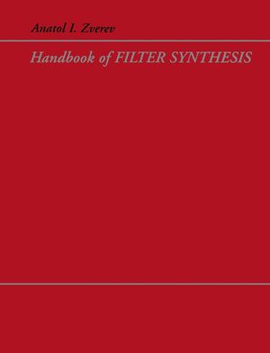Handbook of Filter Synthesis (0471749427) cover image