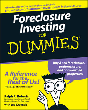 Foreclosure Investing For Dummies (1118051327) cover image