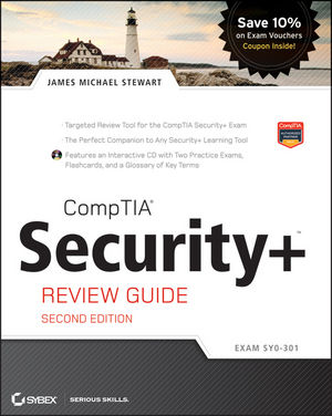 CompTIA Security+ Review Guide: Exam SY0-301, 2nd Edition (1118113527) cover image
