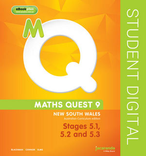 Maths Quest 9 For New South Wales Australian Curriculum Edition, Stages 5.1, 5.2 and 5.3 eBookPLUS (Online Purchase)