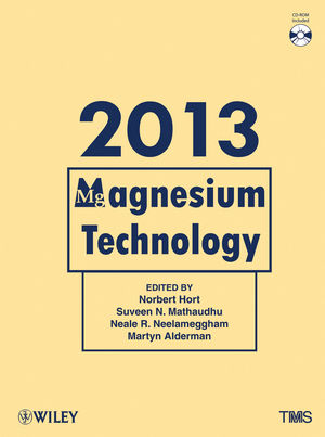 Magnesium Technology 2013 (1118605527) cover image
