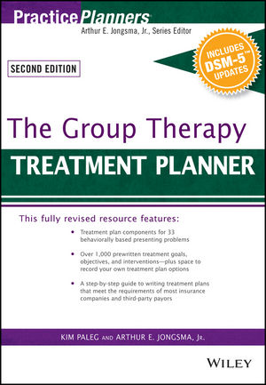 The Group Therapy Treatment Planner, with DSM-5 Updates, 3rd Edition (1119074827) cover image