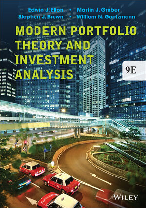 Wiley: Modern Portfolio Theory And Investment Analysis, 9Th