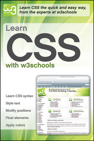 Learn CSS with w3Schools (0470611928) cover image