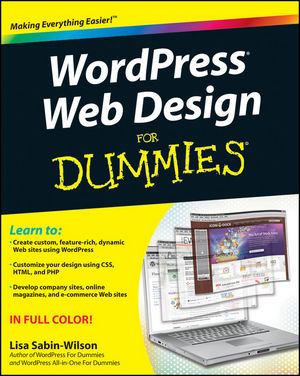 WordPress Web Design For Dummies (1118093828) cover image
