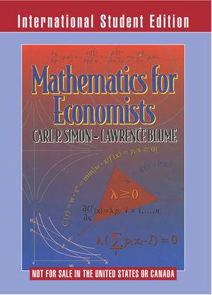 Mathematics for Economists, International Student Edition