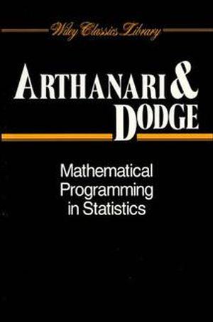 <span class='search-highlight'>Mathematical</span> Programming in <span class='search-highlight'>Statistics</span>