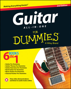 wiley guitar all in one for dummies book online video audio instruction 2nd edition hal. Black Bedroom Furniture Sets. Home Design Ideas